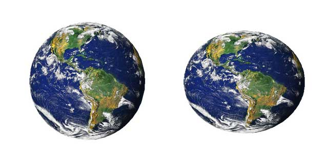 comparison showing changes in shape of Earth